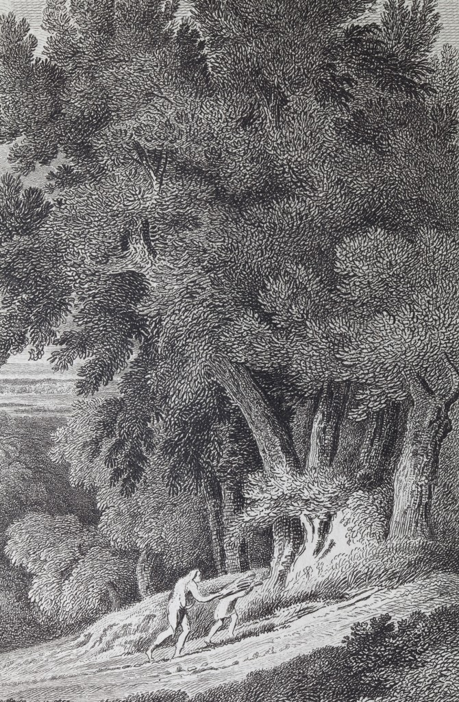 Gaspard Dughet - Landscape with Abraham et Isaac (1665 - National Gallery) - detail 2