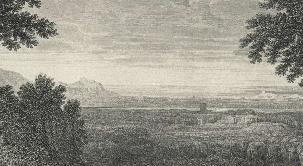 Landscape with Abraham and Isaac - Detail of the distant landscape