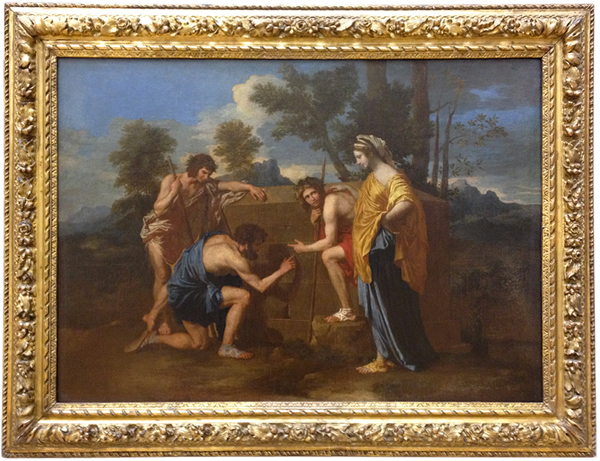 The Arcadian Shepherds or Et In Arcadia Ego - Louvre Museum