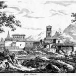 Paysage avec la basilique de Saint Jean de Latran