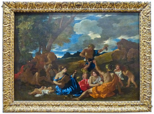 Nicolas Poussin - Bacchanal with Guitar Player or The Great Bacchanal