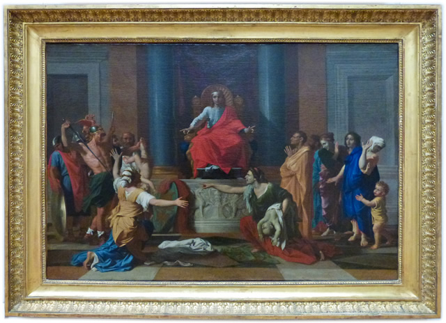 Le Jugement De Salomon Peint Par Poussin Huile Sur Toile De 1649
