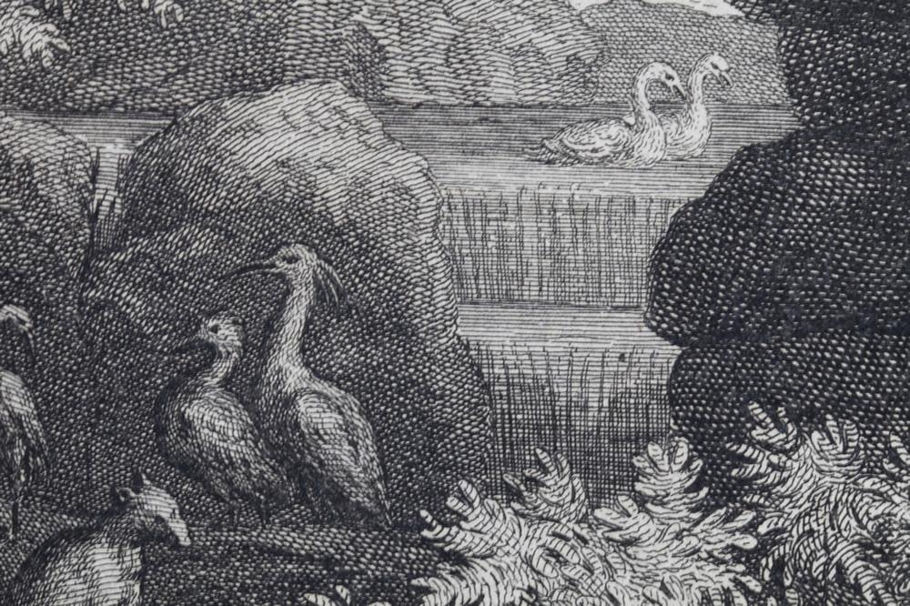 Le Printemps (1660-1664) - Détail 4 - Gravure d'Audran