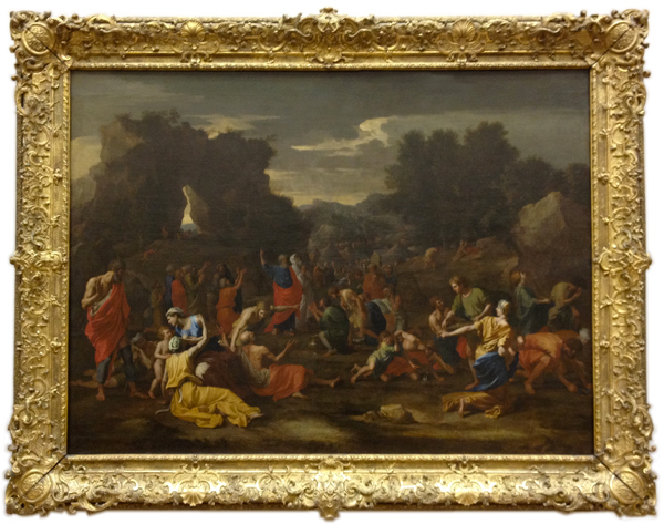 The Israelites gathering the manna in the desert - painted for Chantelou (1637-1639)