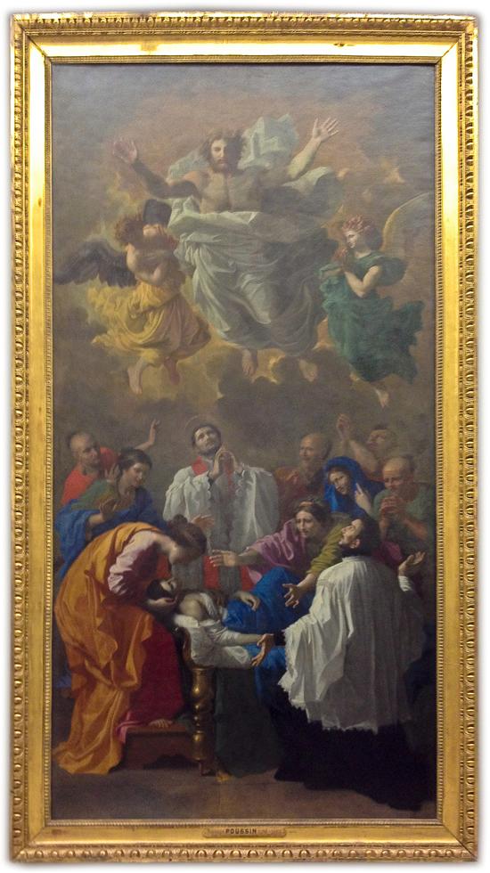 Nicolas Poussin - Saint François-Xavier rappelant à la vie la fille d'un habitant de Cangoxima au Japon (1641)