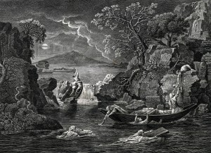 Winter or The Flood - Engraving - Zoom